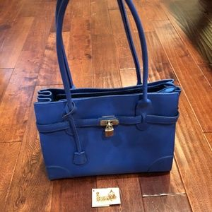 Handbags - Birkin Inspired Bag Italian Leather - Blue